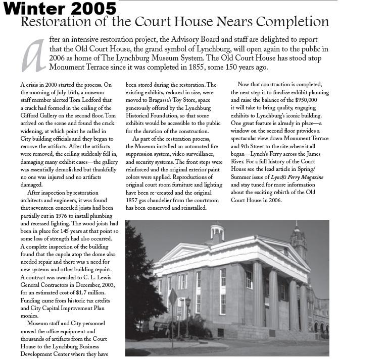 Vol. 1, No. 1 Winter 2005