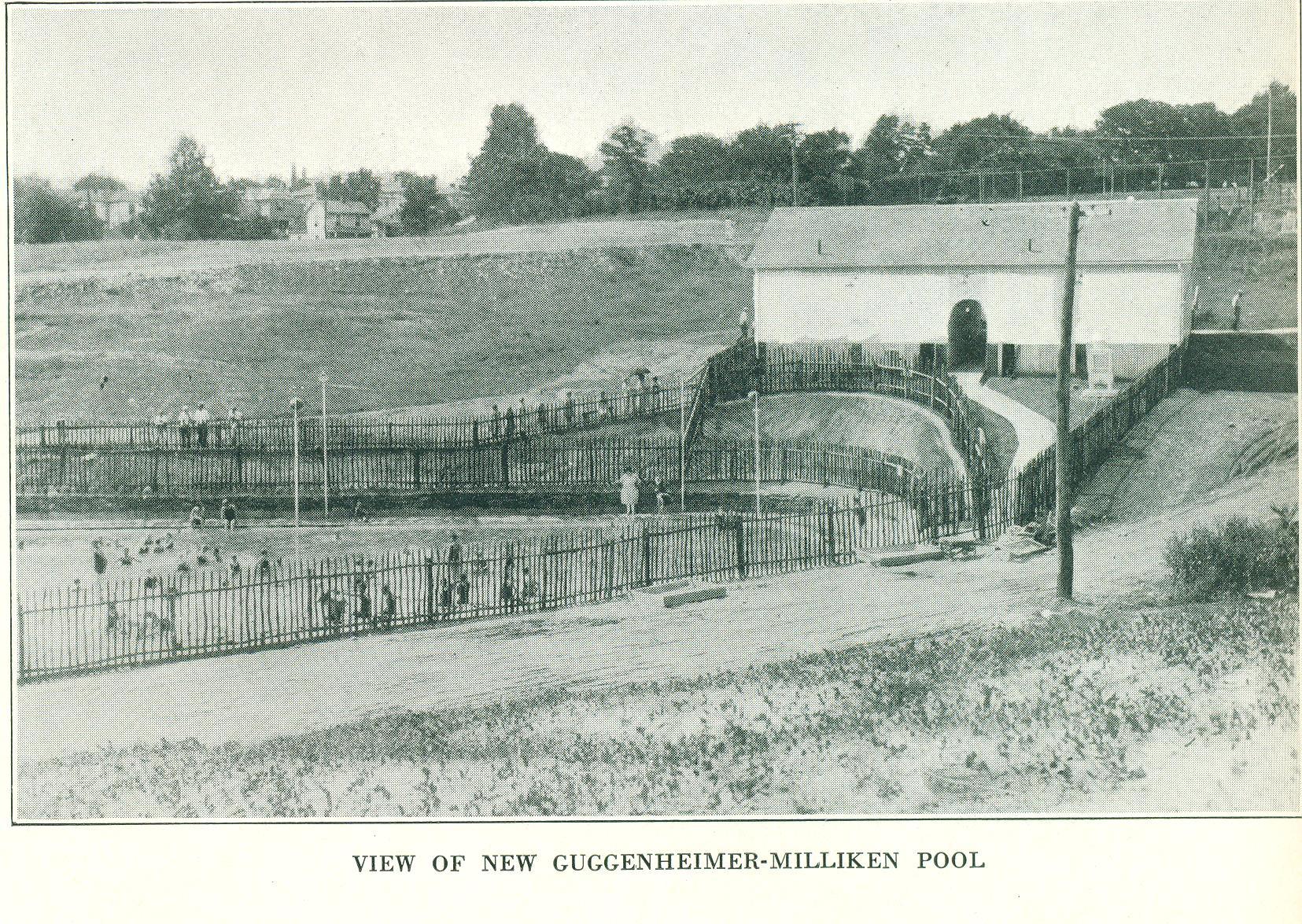 The Guggenheimer-Milliken Pool when it opened in 1927.