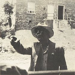 The only known photograph of Luke Jordan, taken by Lynchburg resident Henry Smith in the 1940s near the corner of Fifth and Polk.