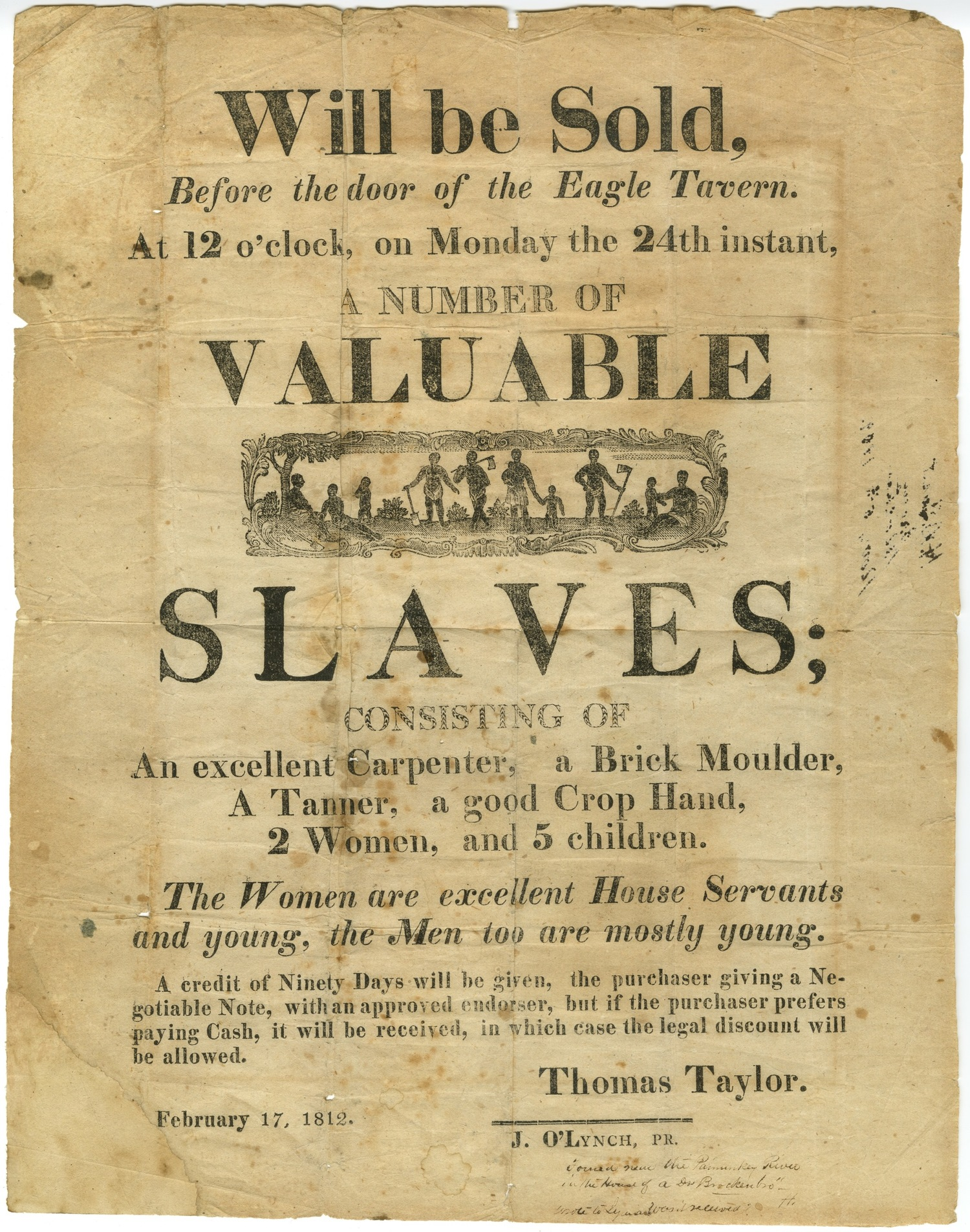 To Be Sold: Virginia and the American Slave Trade — Lynchburg ...