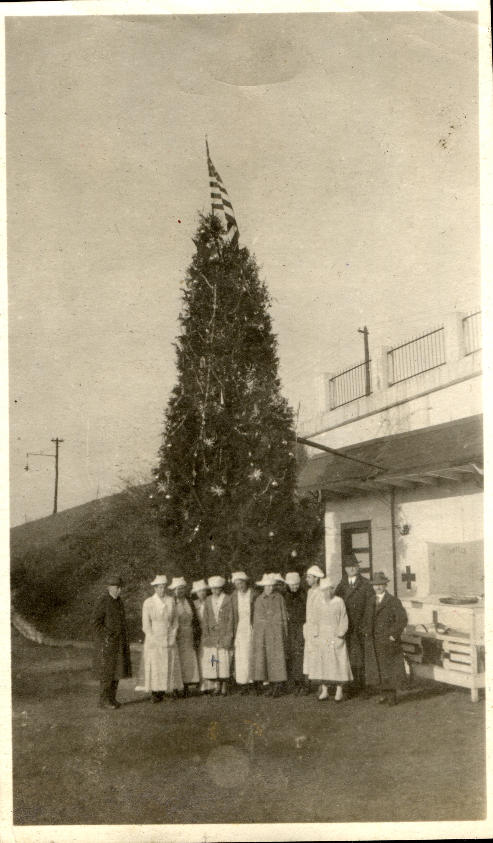 Canteen Workers with Christmas Tree, 1918-19