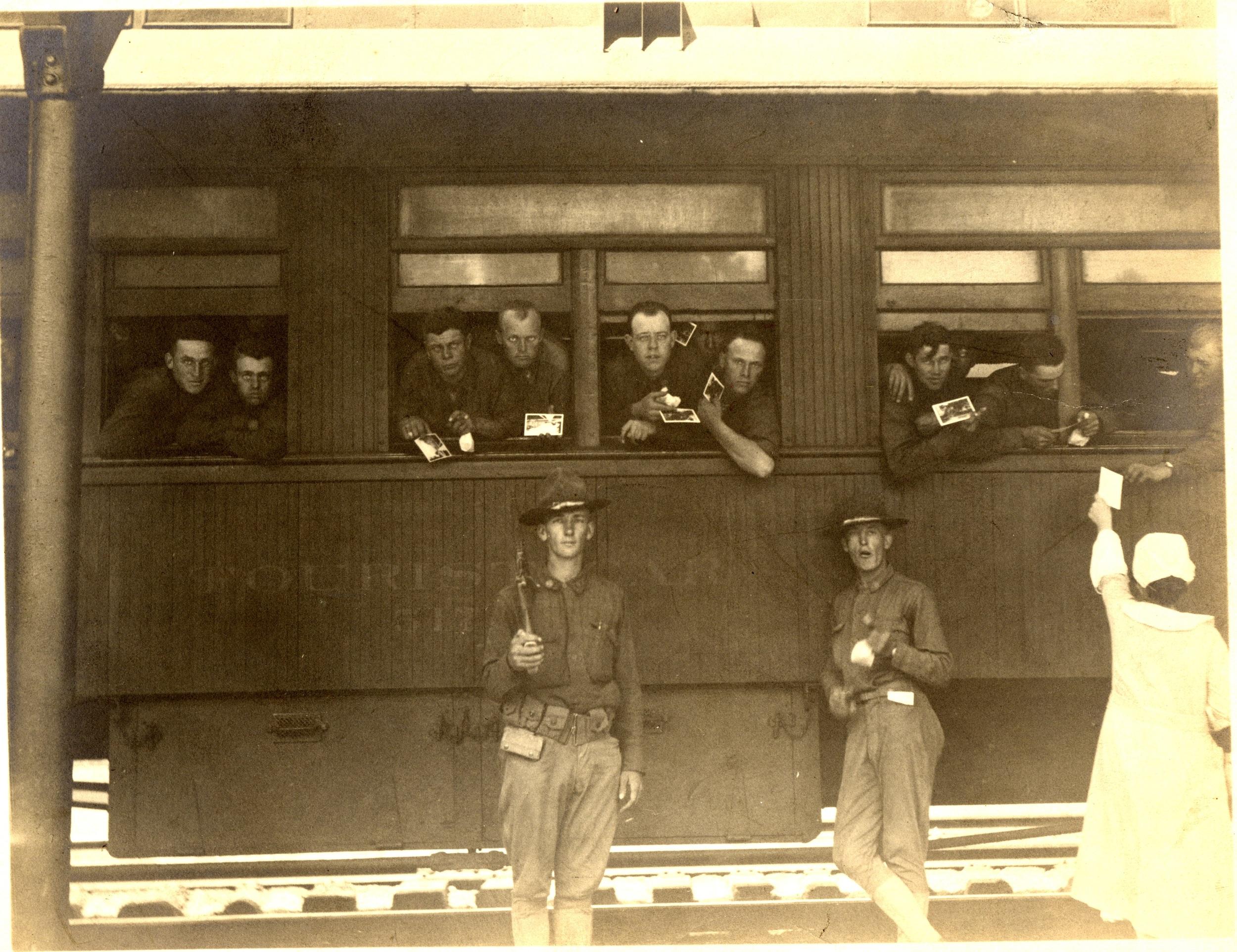 Troop Train at Kemper Station