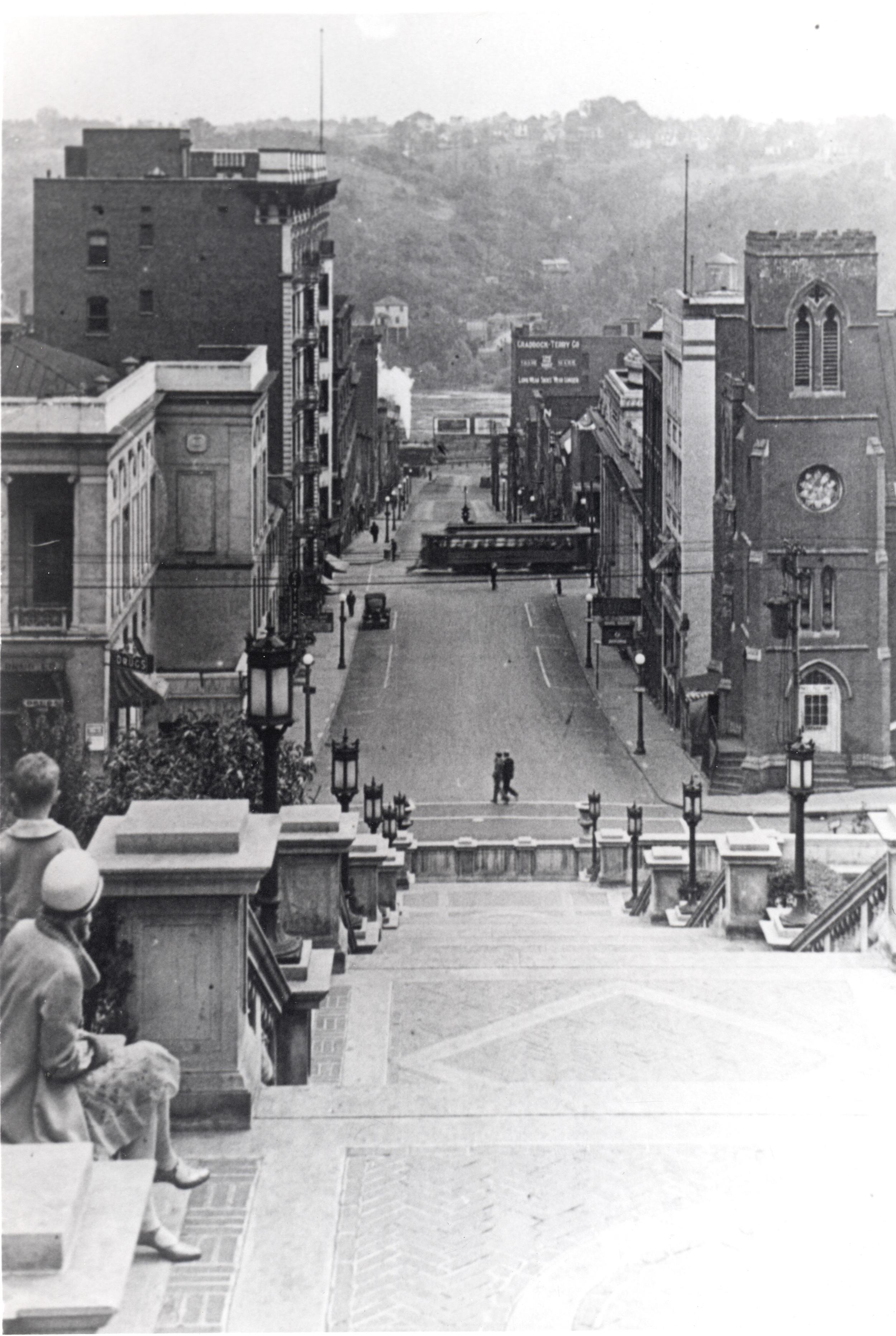 Looking Down 9th Street post 1926