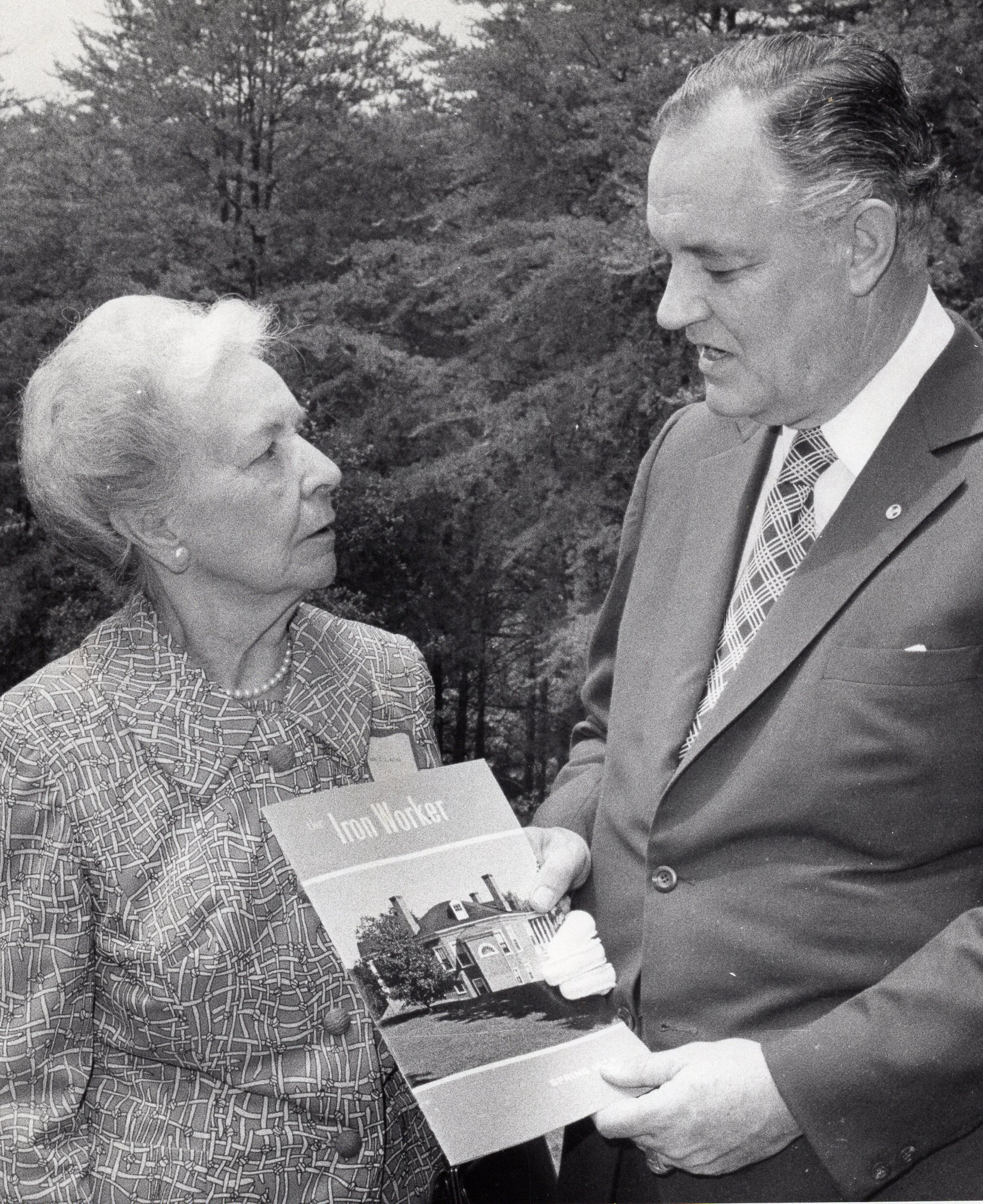lucille watson with virginia governor mills godwin jr. ca. 1974