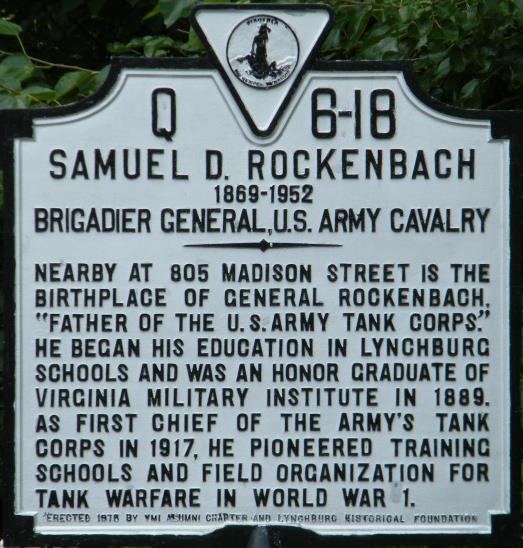 Rockenbach's historical Marker near 8th and madison streets