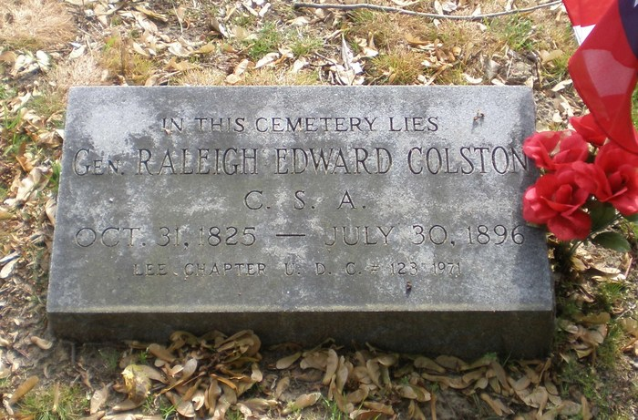 Colston's grave in Hollywood Cemetery, Richmond, VA