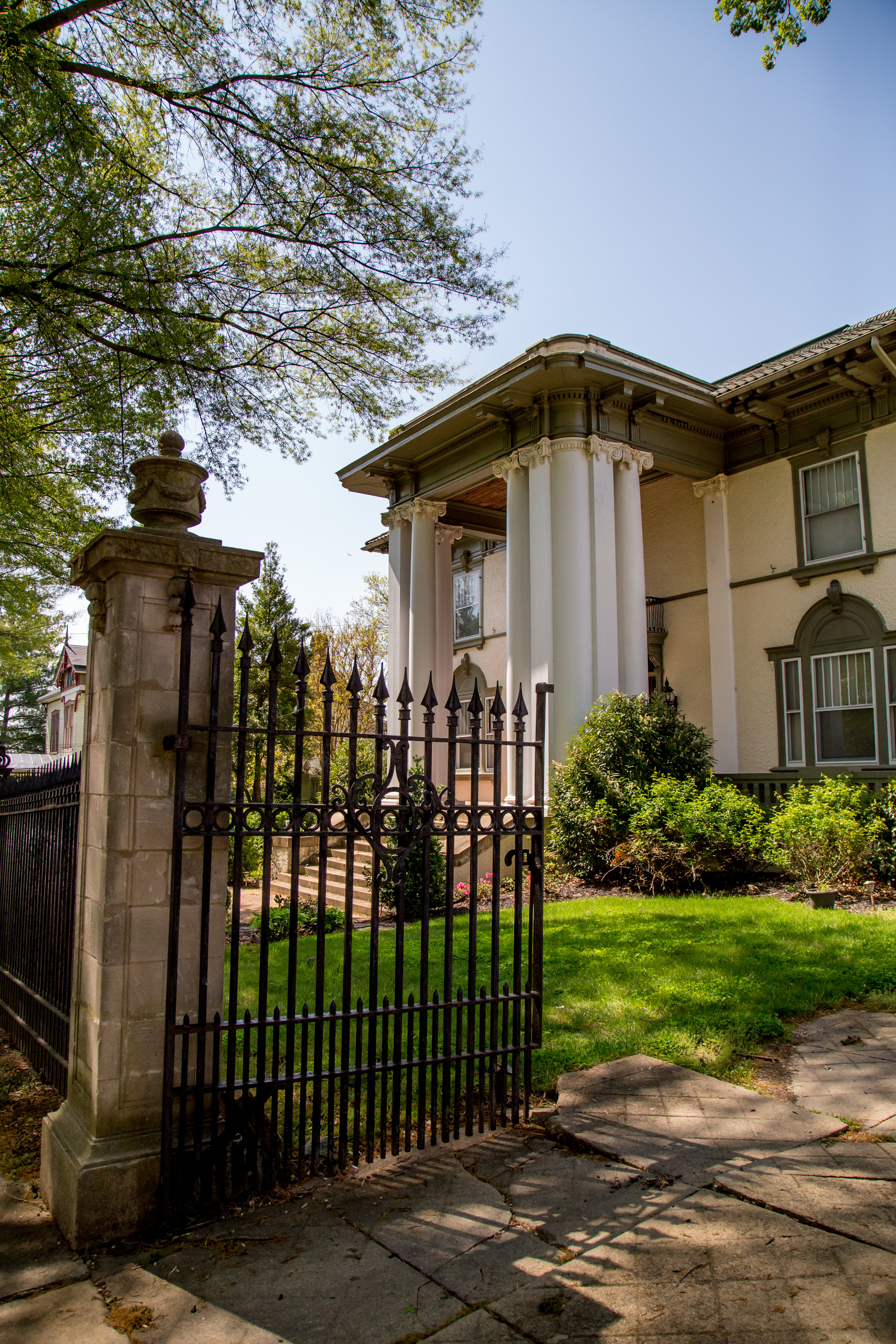 James Gilliam, Sr. Home, built 1912 Designed by architect Stanhope Johnson, the house occupies two lots in Garland Hill and combines elements of Georgian and Spanish styles.