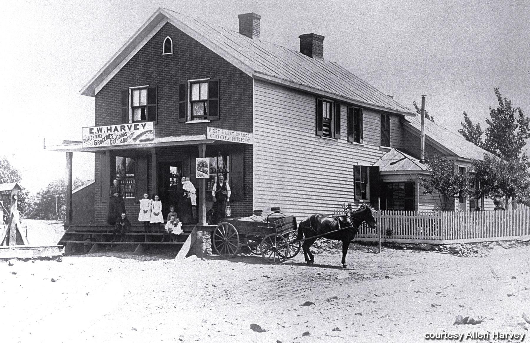 E. W. Harvey's Store, ca. 1899, corner of Fort Avenue & Wards Road
