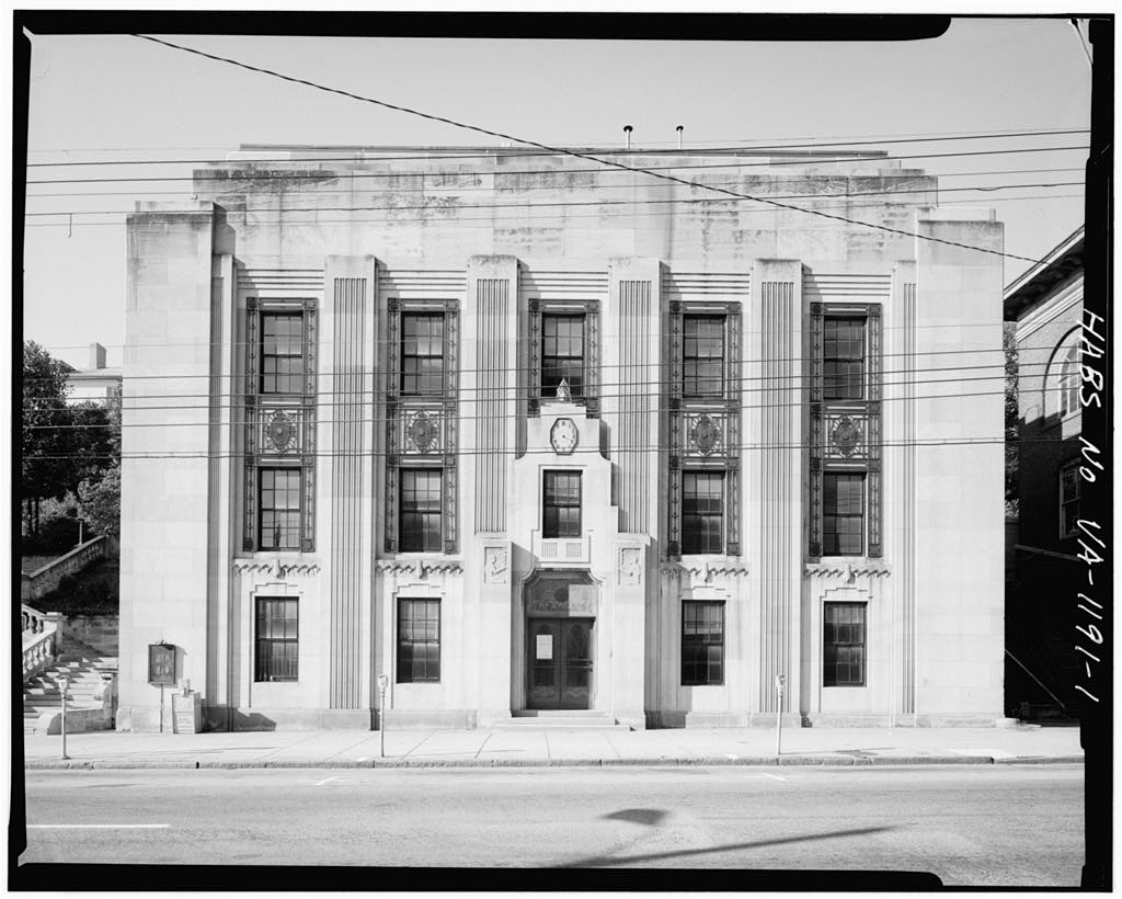 The former Art Deco offices of  The News and Advance  on Church Street in downtown Lynchburg, Virginia. Image Credit: Library of Congress