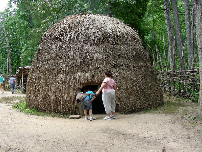 Typical Monacan ancestral dwelling