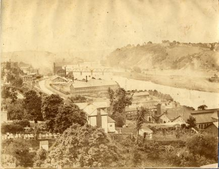 Lynchburg from White Rock Hill, c. 1880's. From the Lynchburg Museum System
