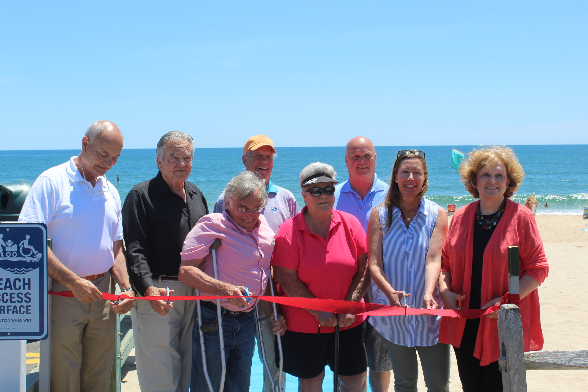 Ribbon cutting at Main Beach