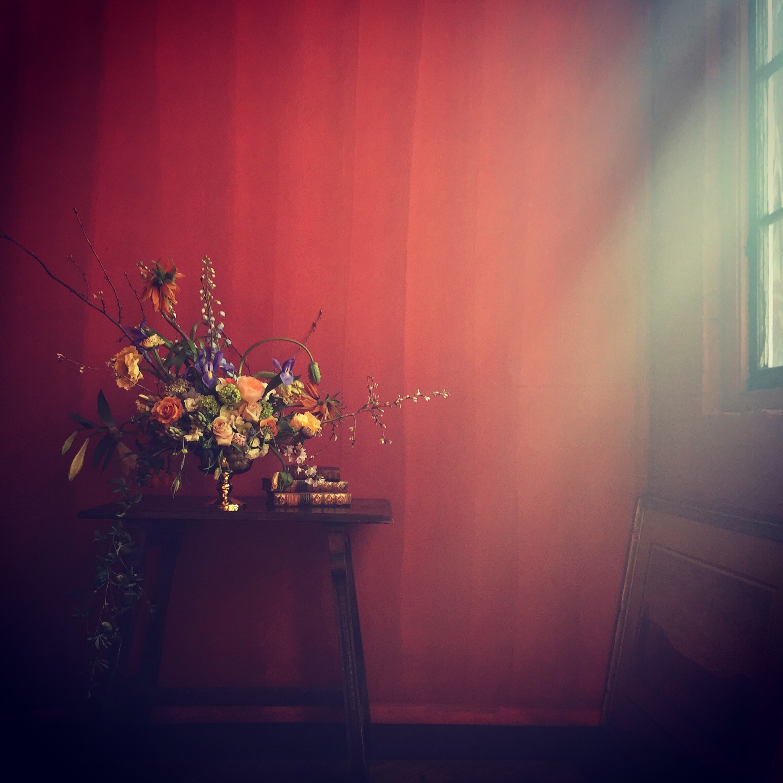 Jess's flower arrangement from Little Flowers School Saipua class