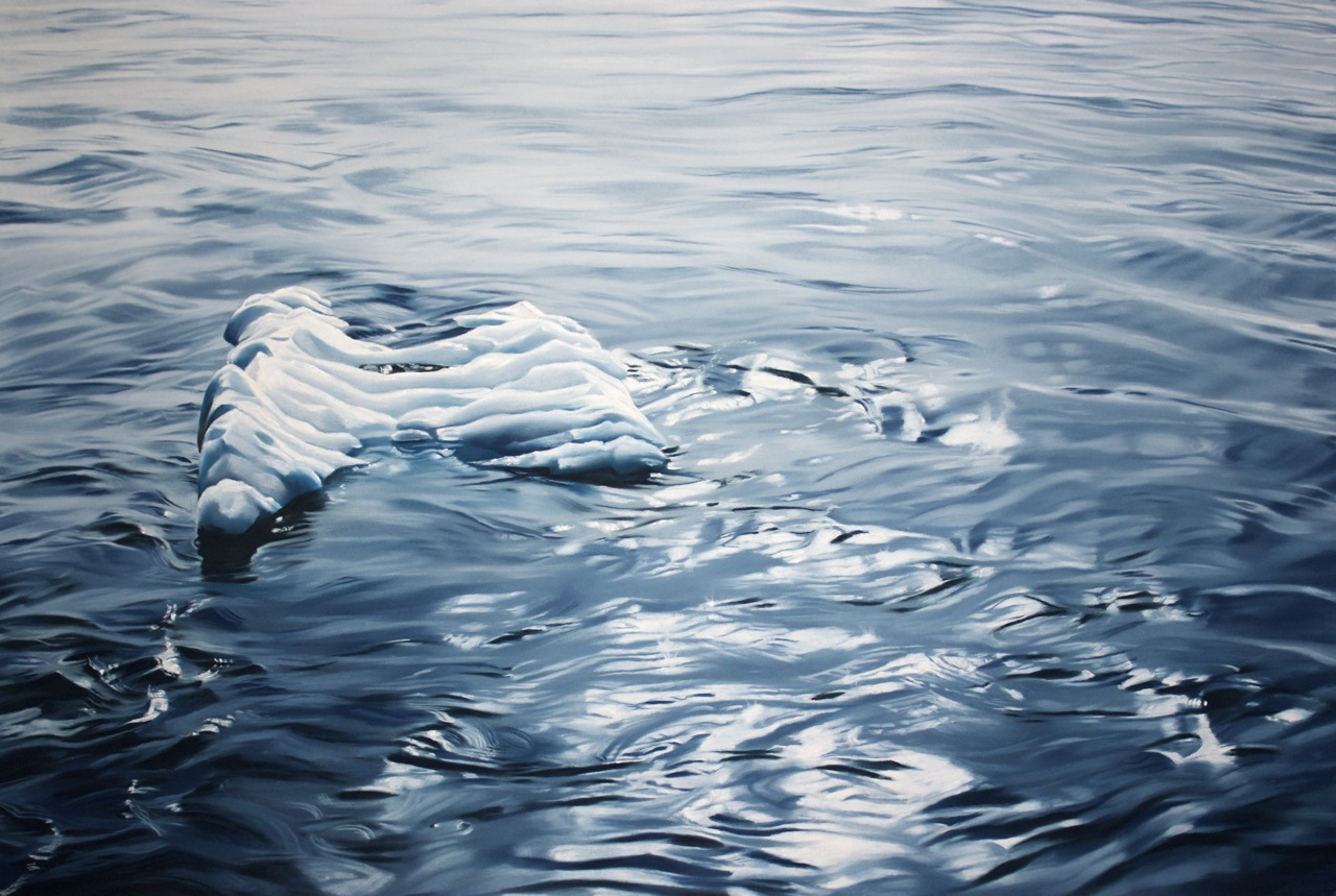GREENLAND NO.68, 30 X 44 INCHES, SOFT PASTEL ON PAPER, 2014