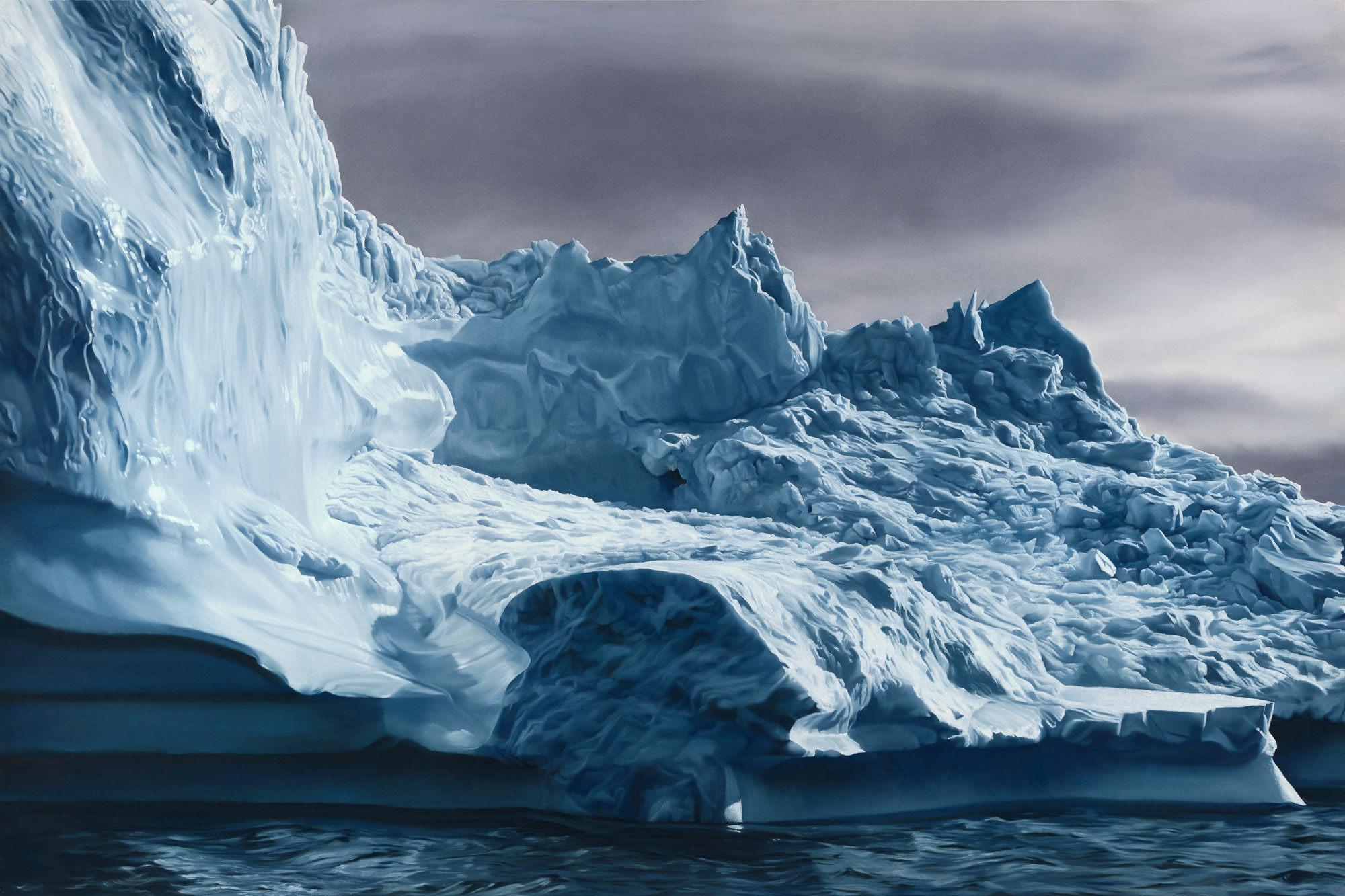 GREENLAND NO.63, 50 X 75 INCHES, SOFT PASTEL ON PAPER, 2013