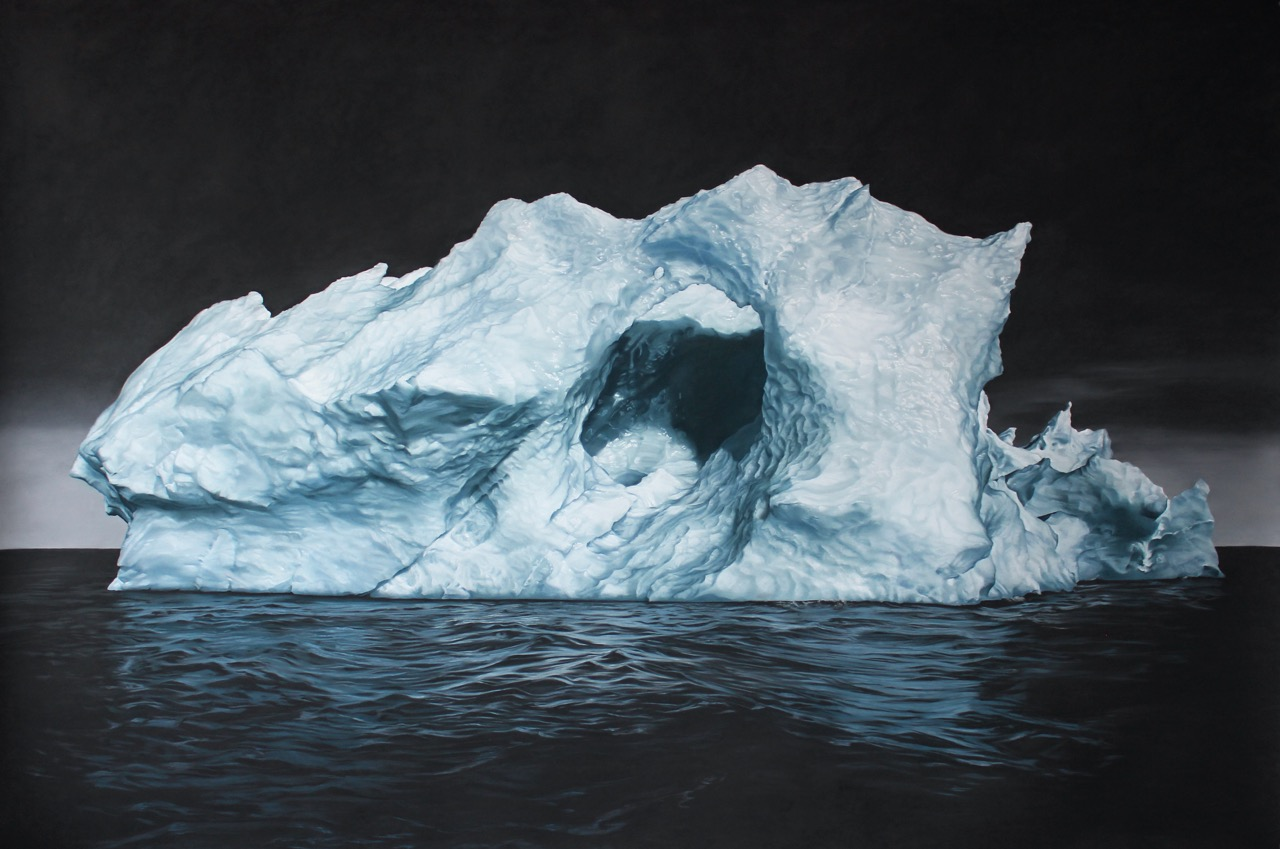 SVALBARD NO.33, 60 X 90 INCHES, SOFT PASTEL ON PAPER, 2014