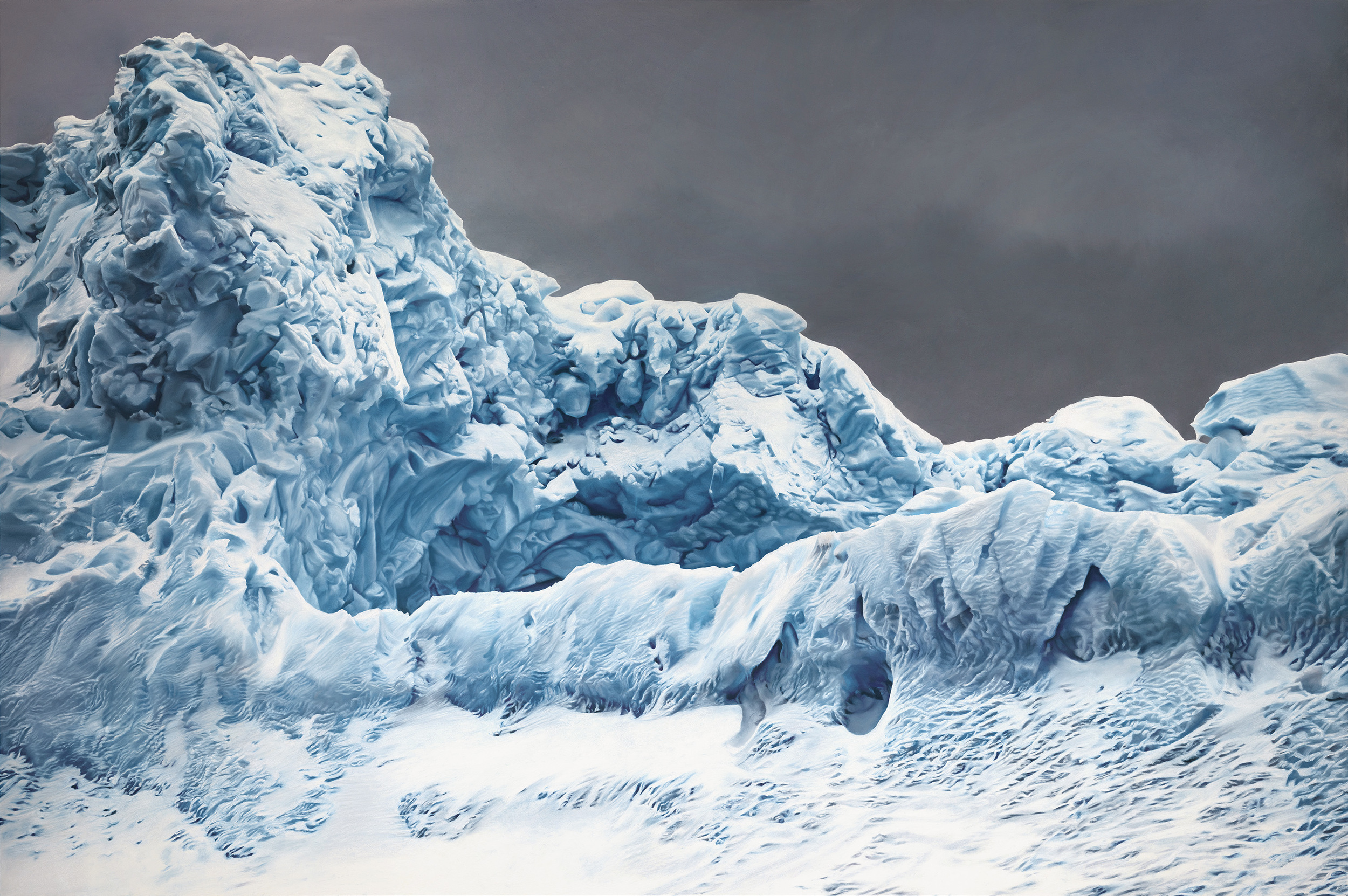 WHALE BAY, ANTARCTICA NO.1, 60 X 90 INCHES, SOFT PASTEL ON PAPER, 2016