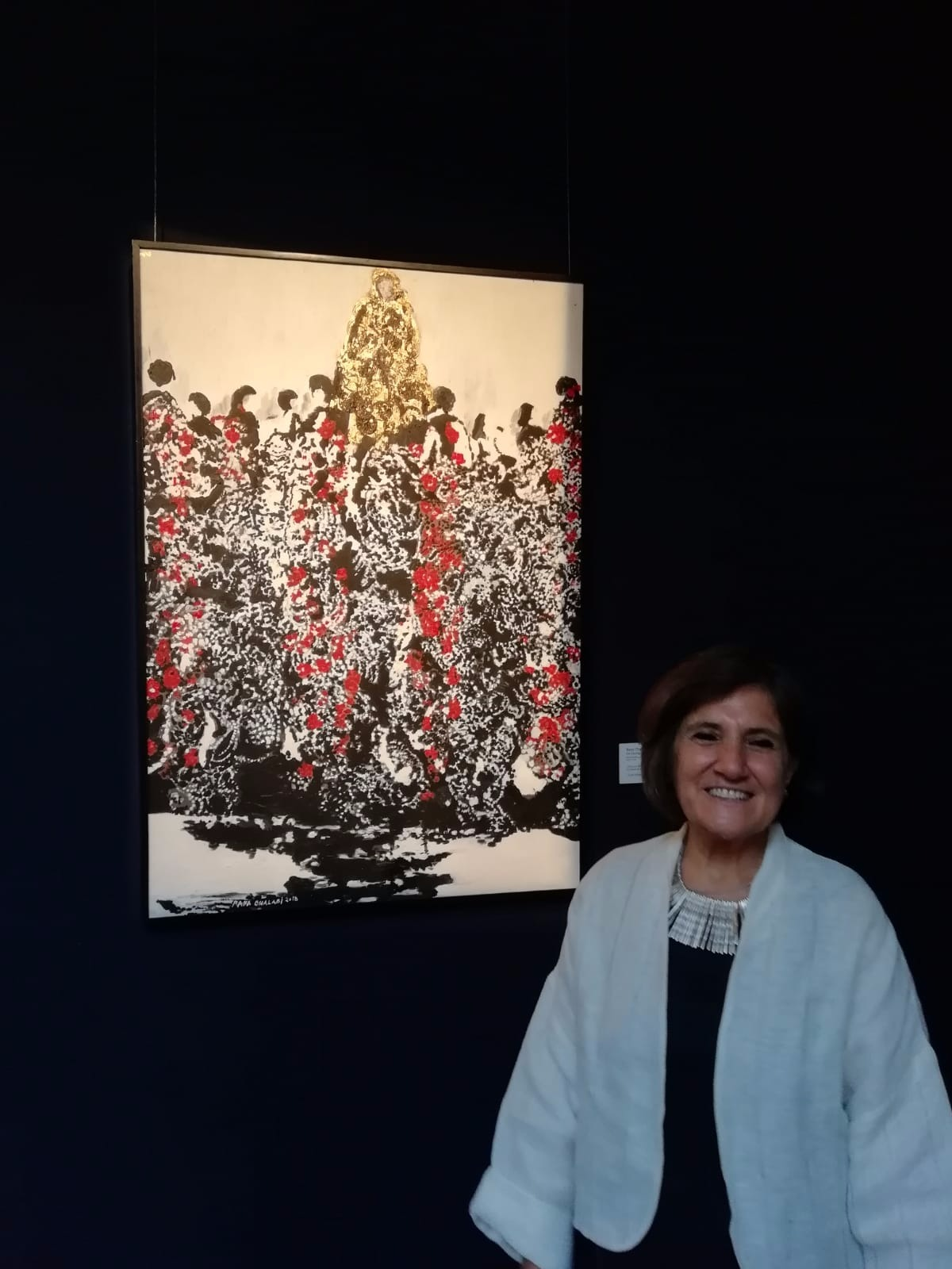 On Giving  Mixed Media on Canvas  105 X 71  Exhibited and sold on first day of opening at Sotheby's, London, August 8th, 2018
