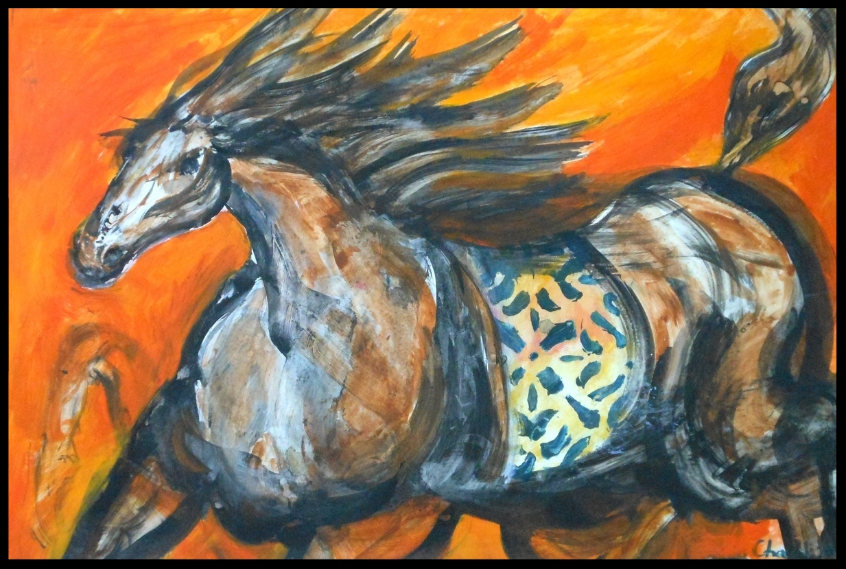 A Horse In Orange