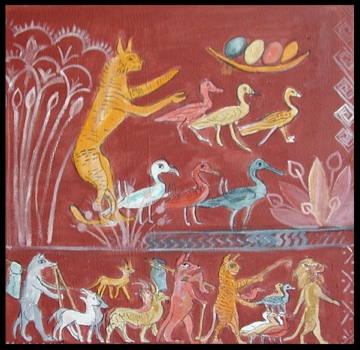 Pharaonic Cats and Birds