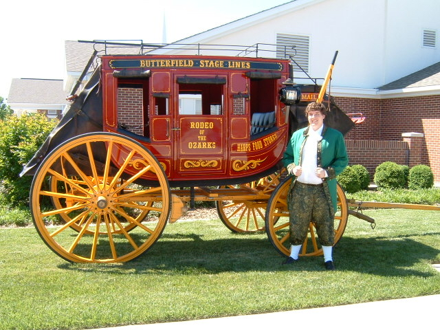 A restored, original Butterfield Stagecoach will be on site.