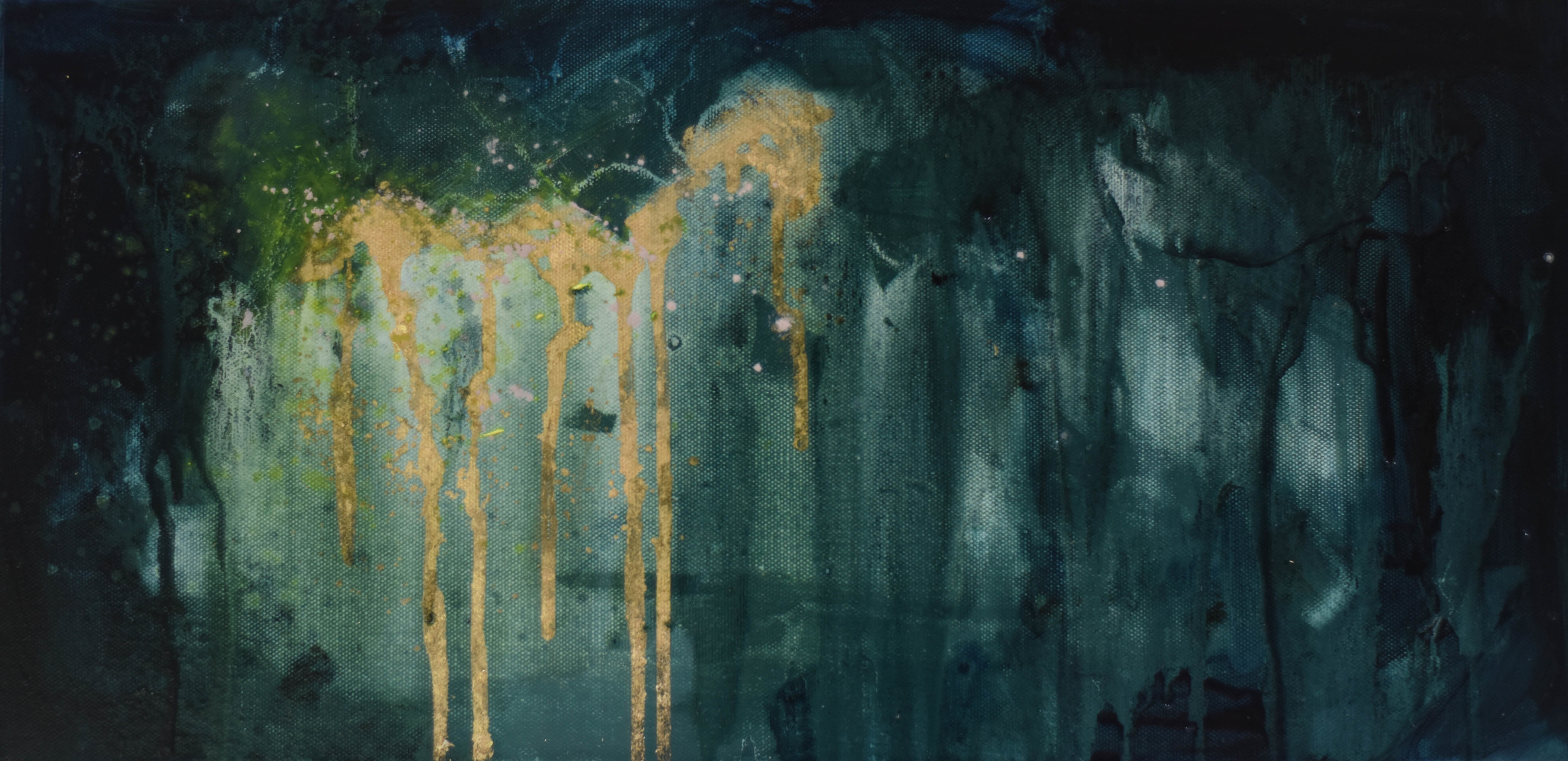10x20, oil on canvas with gold leaf  SOLD
