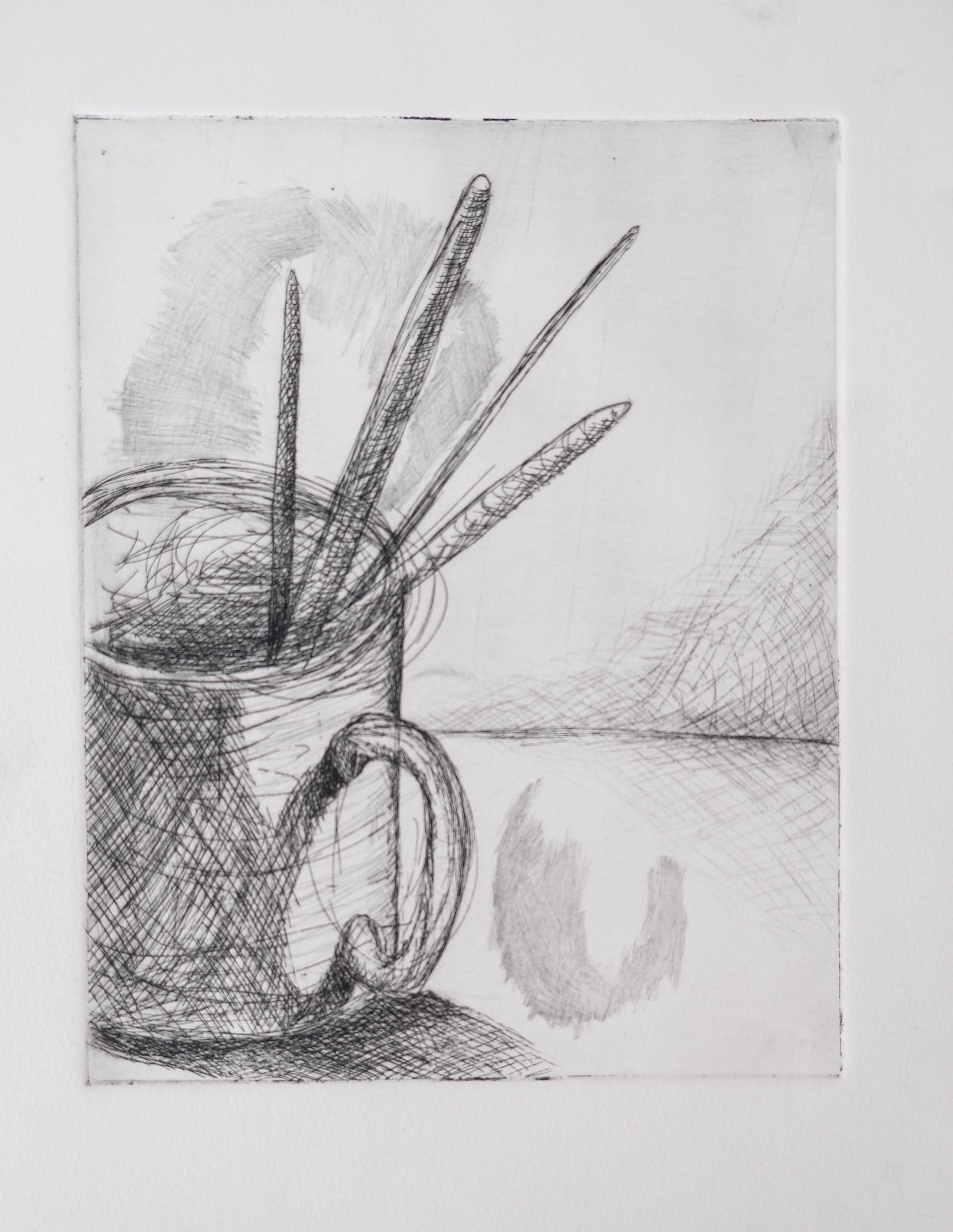 33. 29. 8x10, Etching, workprint