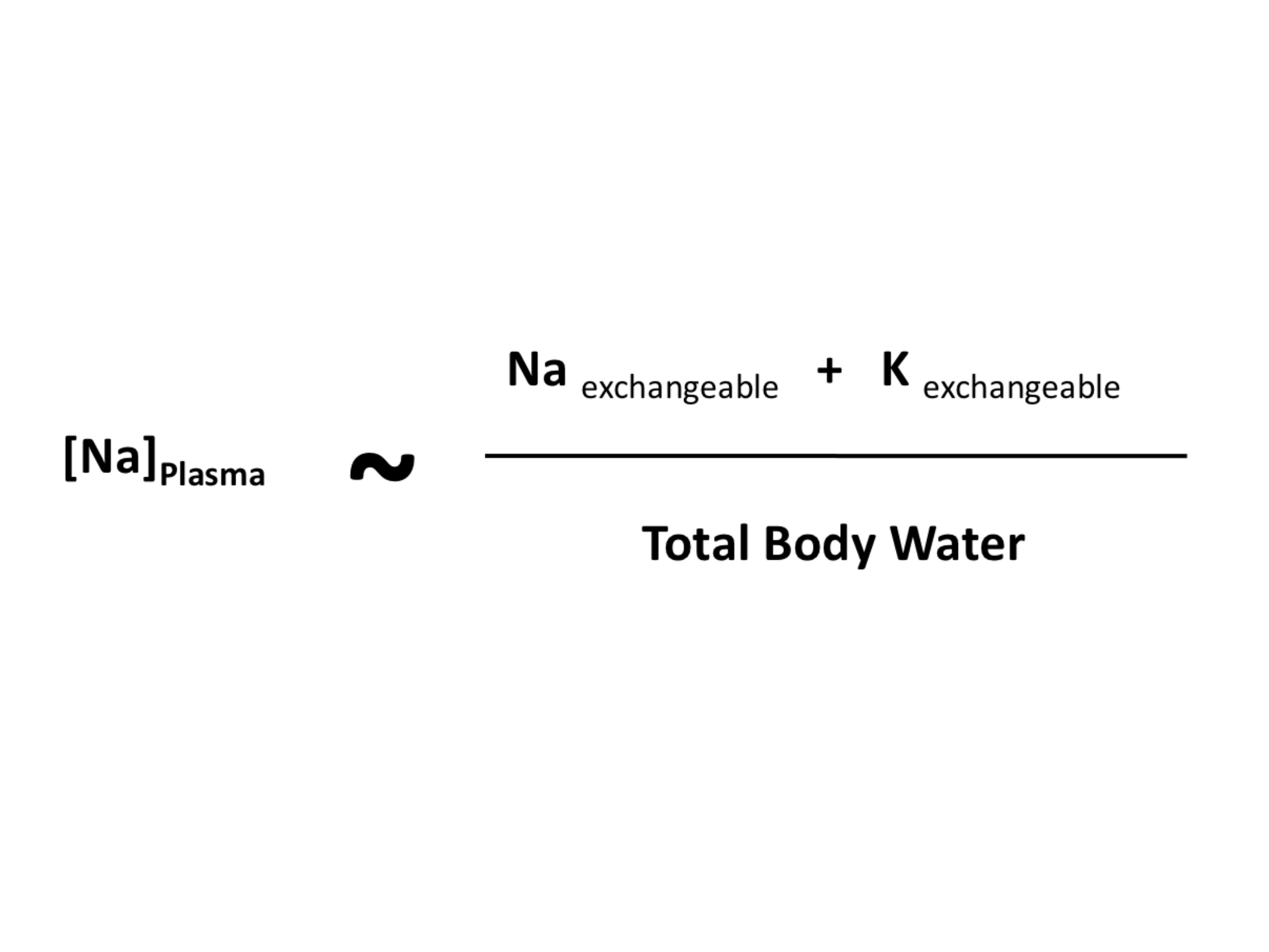 The relationship between P-[Na] and the amount of exchangeable sodium and potassium and the TBW.