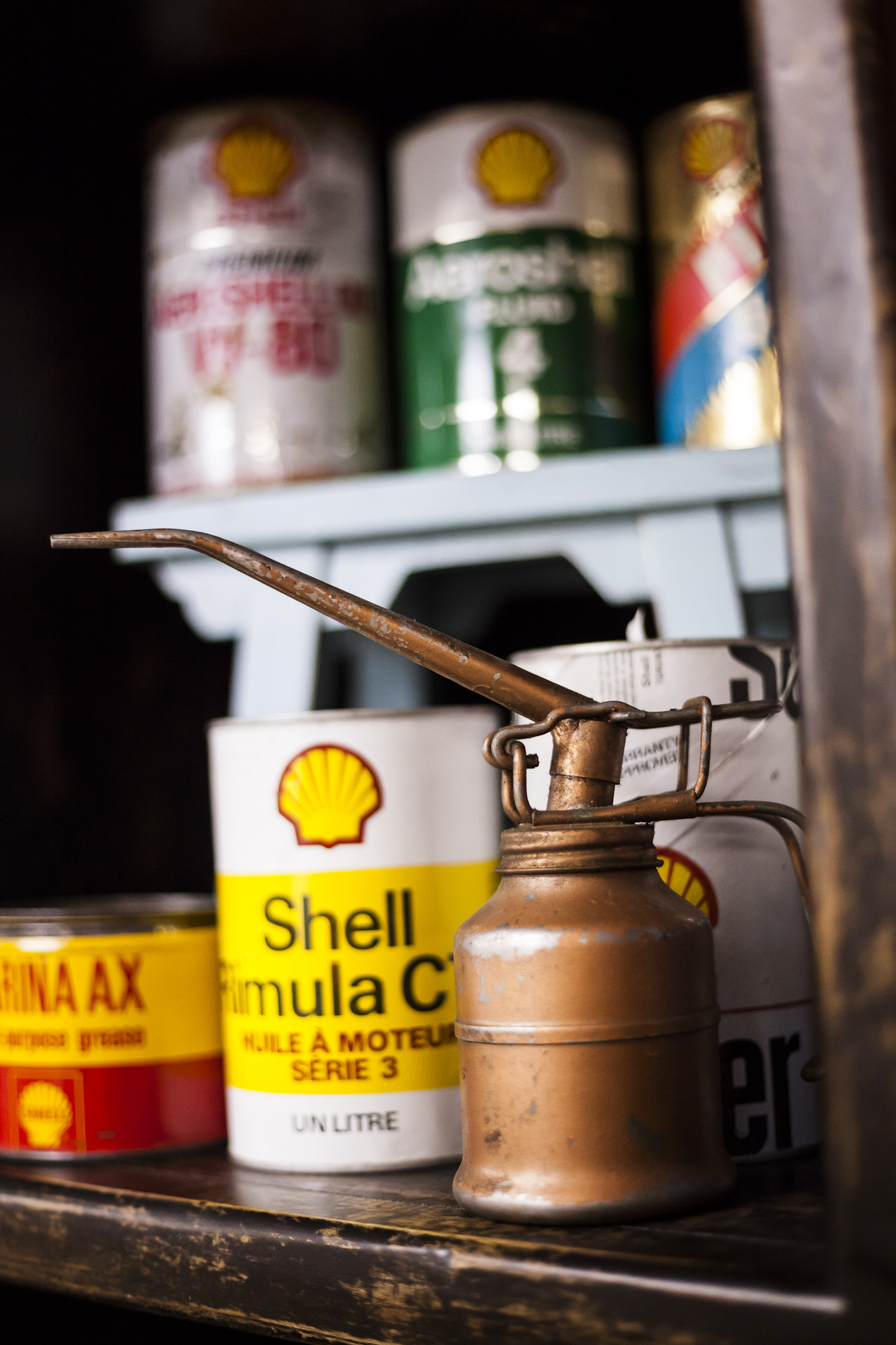 Antique Oil Cans and Lubricators