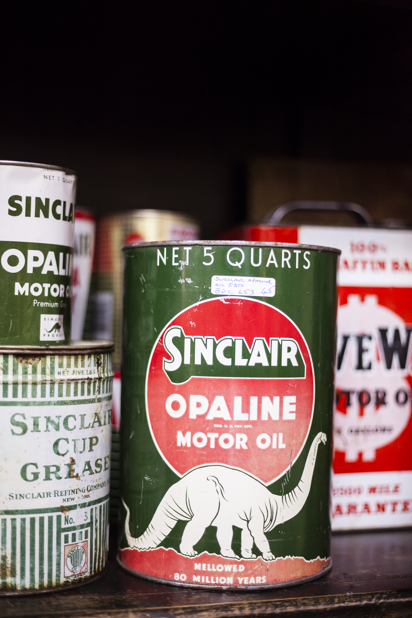 Antique Motor Oil Cans