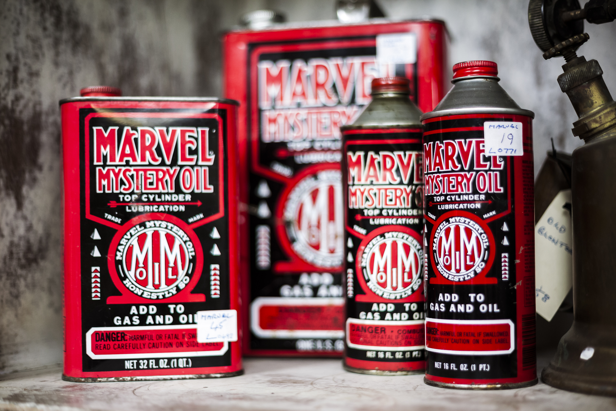 Antique Marvel Mastery Oil and Engine Fluids