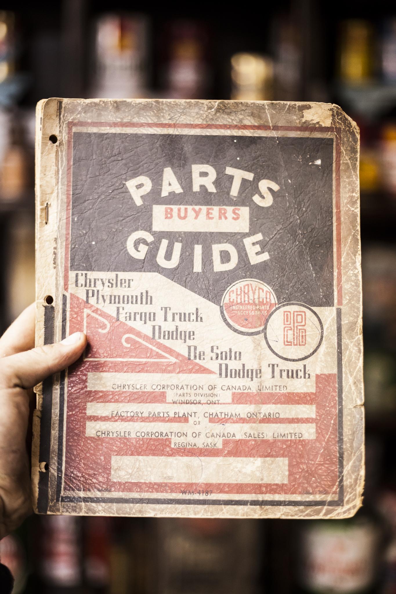 Antique Automobile Parts Manual