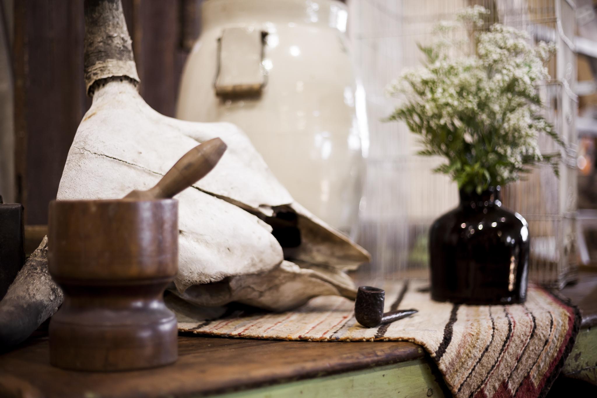 Skull, Pipe, Vase, Pistle and Muddler
