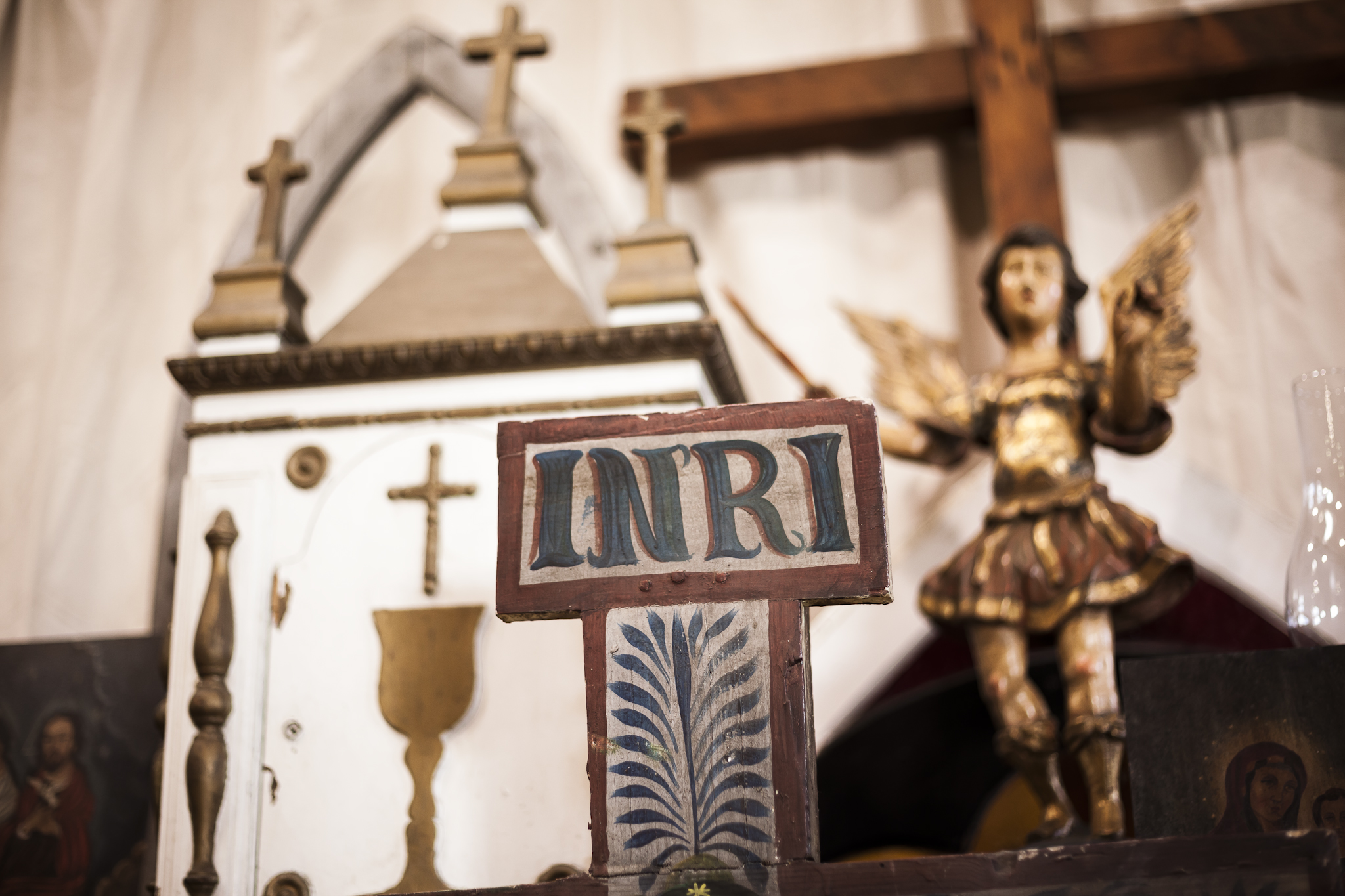Antique Angel And Miniature Church from Prince Edward Island