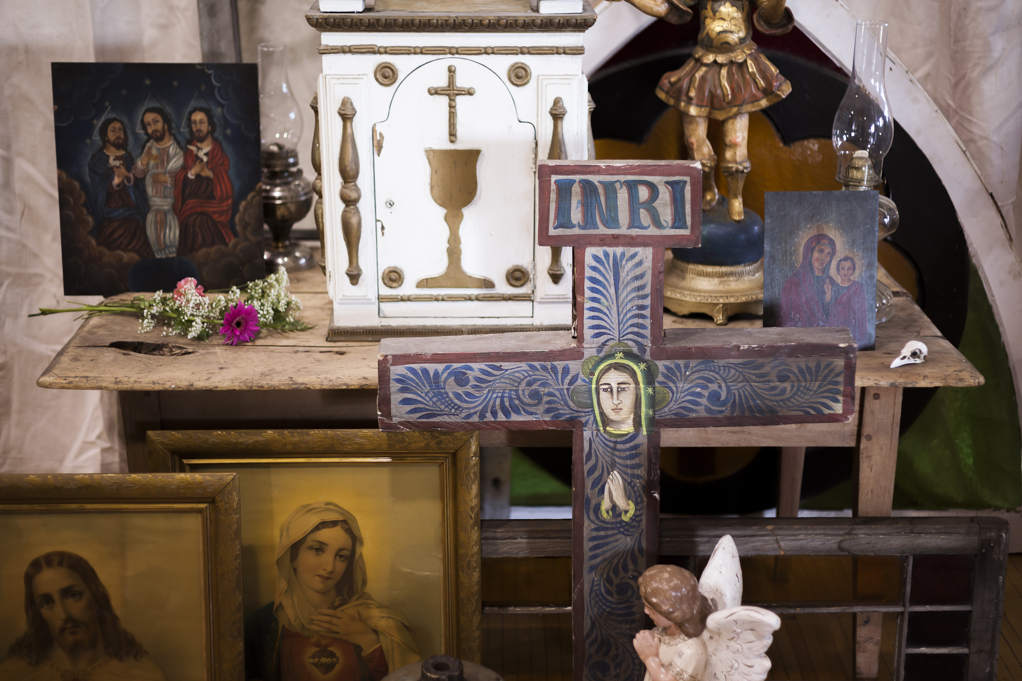 Assorted Catholic Antiques And Artifacts