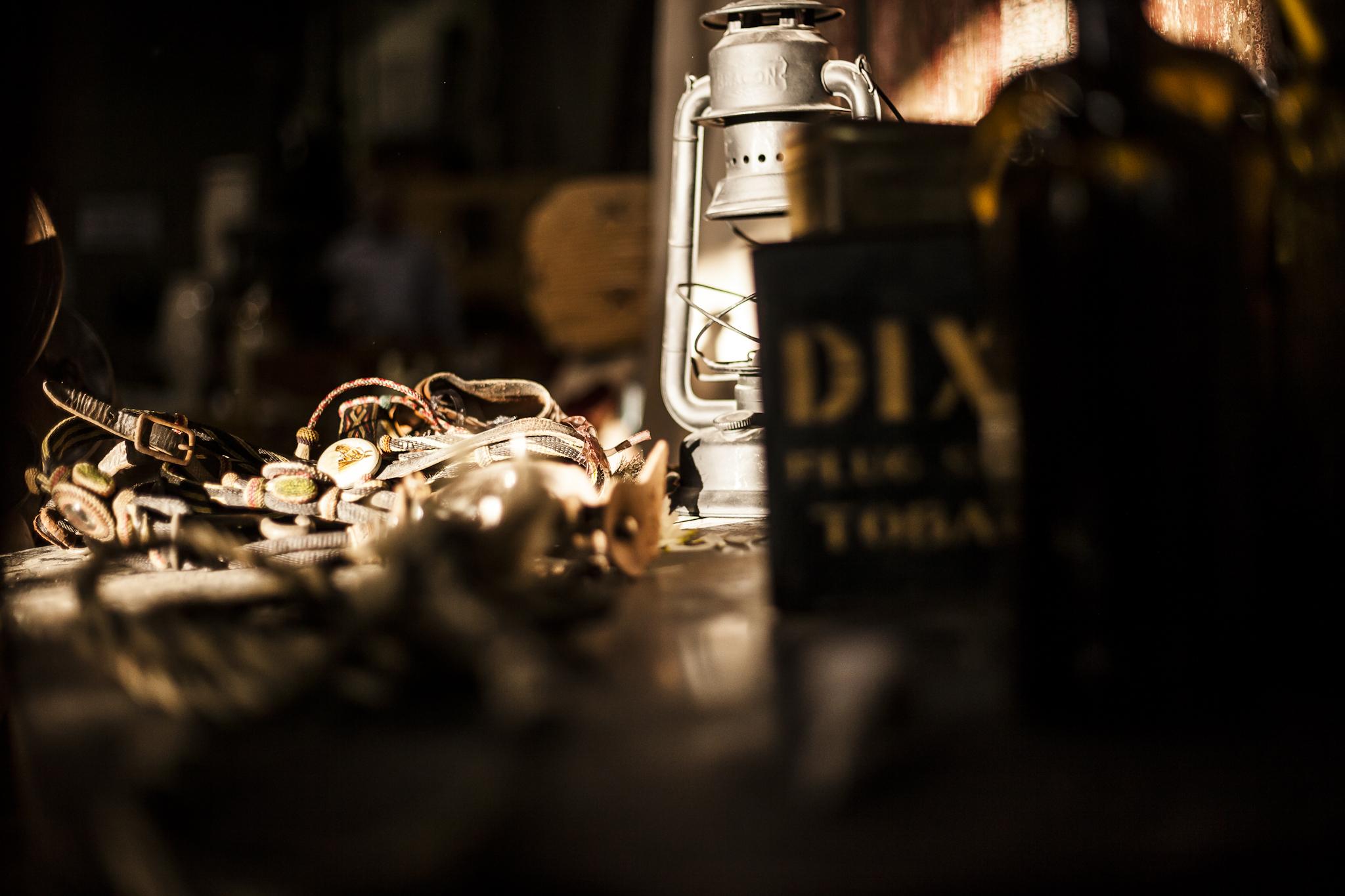 Antique Dixie Oil, Primitive Spurs and an Old Coal Oil Lamp