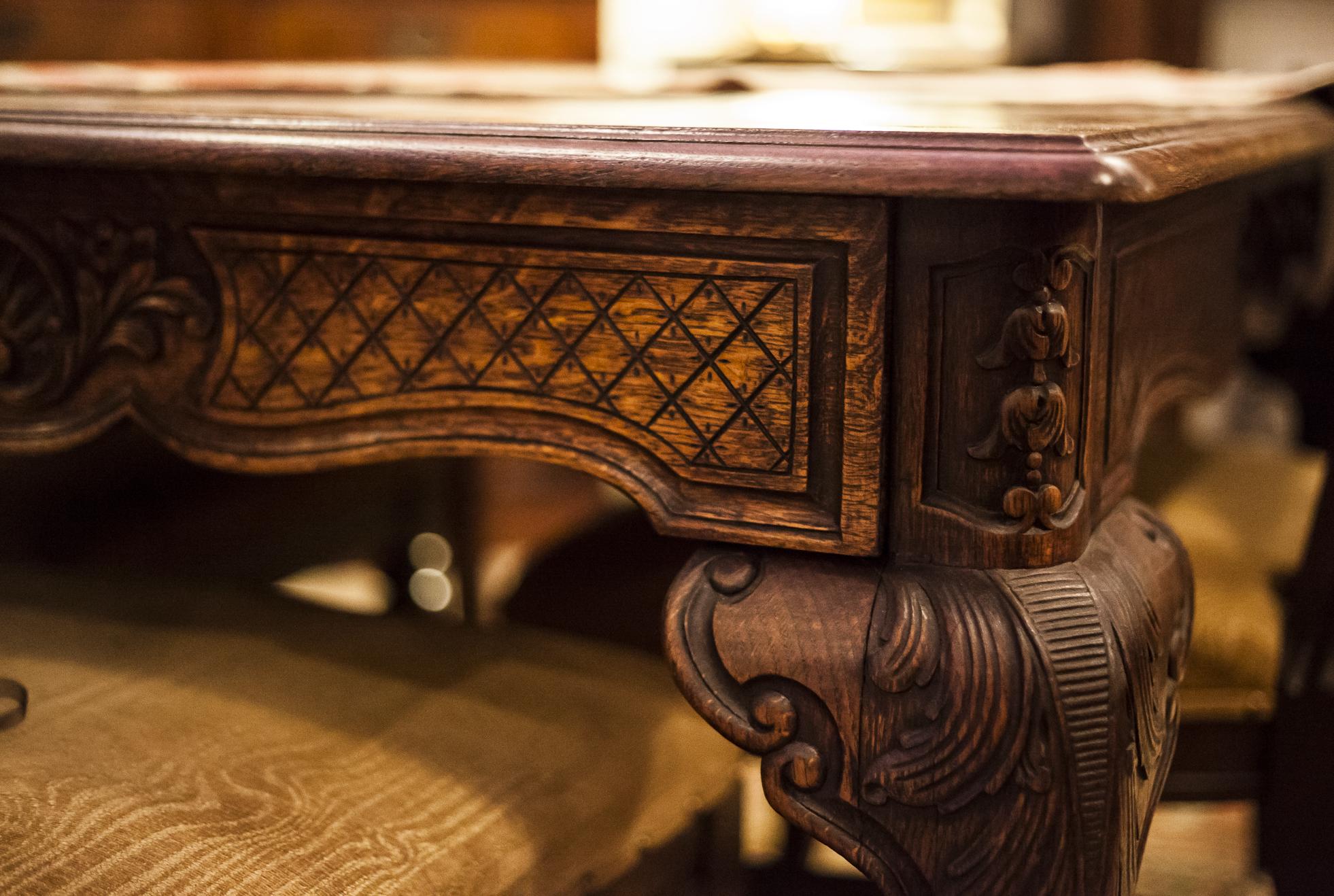 Aged Victorian Wooden Desk
