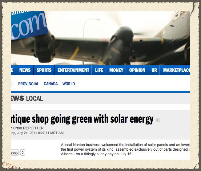 Antique Shop Going Green with Solar Energy - Nanton News