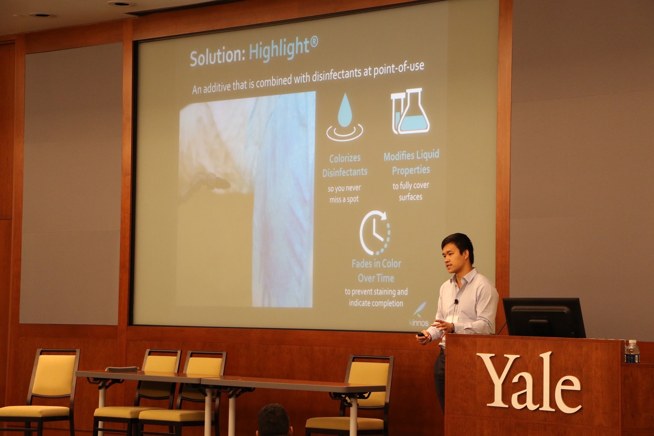 CEO Jason Kang speaks at the Connecticut Biosafety Alliance Symposium. June 2017.