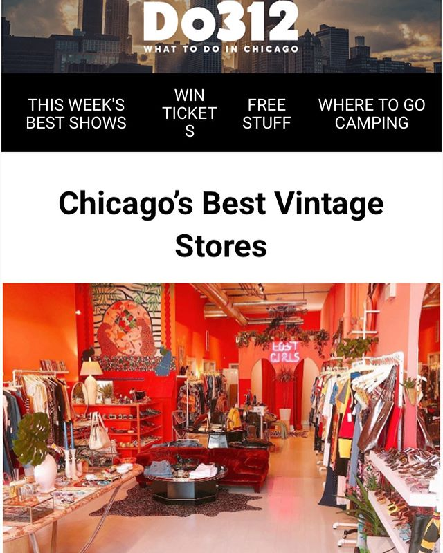 Wow!!!!! What a nice surprise! Thanks @do312 for listing Lost Girls as one of Chicago's Best Vintage stores!! We're so excited to be on a list with so many shops we've admired for so long ❤️