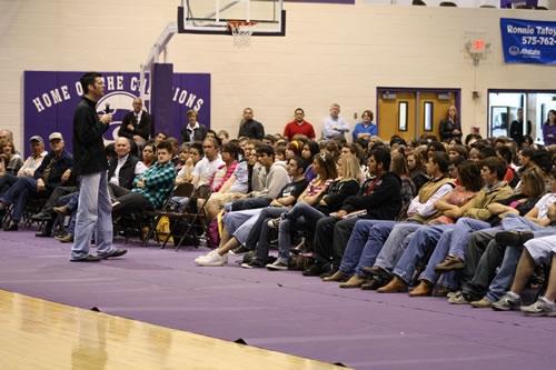 Jay Lowder Crossroads School Assembly.jpg