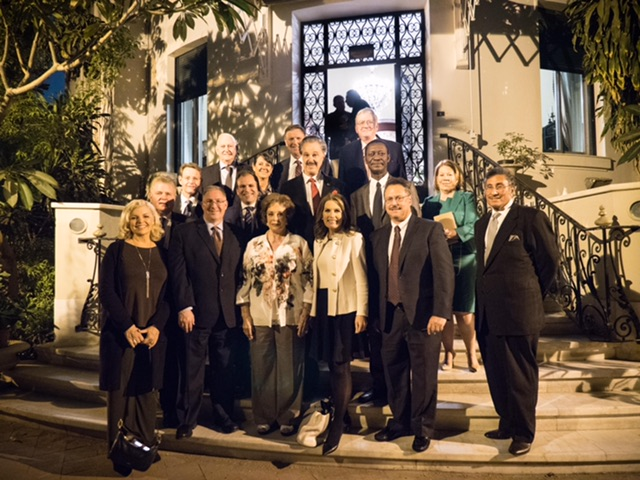 """Former Egyptian First Lady Jehan Sadat, widow of former Egyptian President Anwar Sadat, hosts American Evangelical leaders for tea in her home of 47 years, which she calls the """"House of Peace."""""""