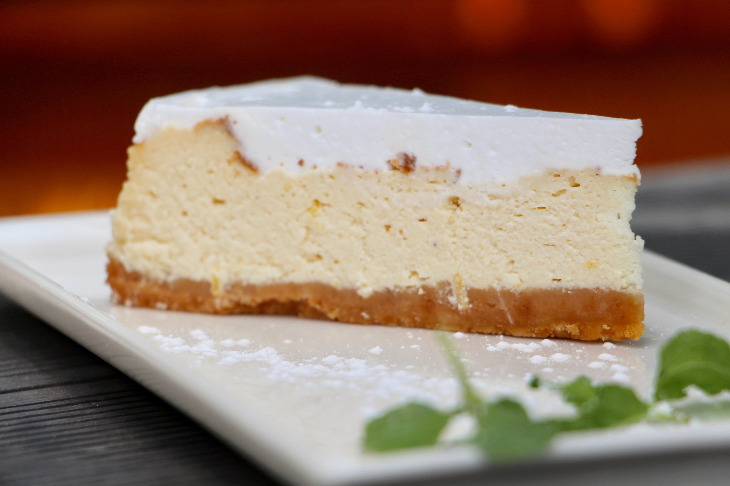 We'll save you the trip to new York with our delicious baked New York cheesecake! Seriously, put your passport away and avoid the pesky airport lines, and instead enjoy this luscious cheesecake.
