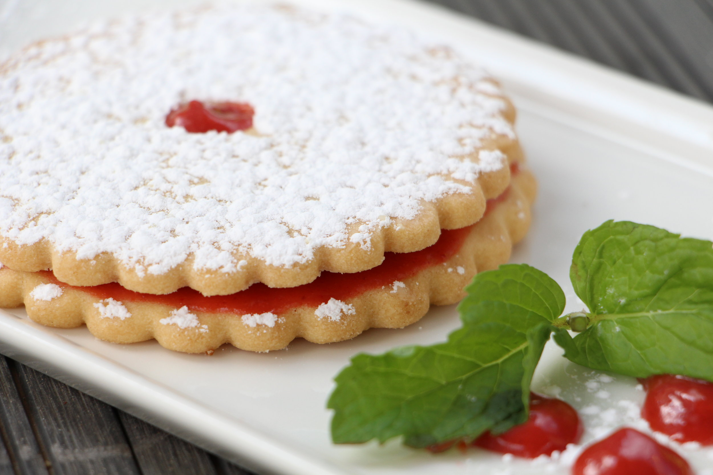 Soft, buttery cookies do the trick when you want something indulgent but not too heavy and the jam adds the just right amount of tarty sweetness to the buttery goodness.