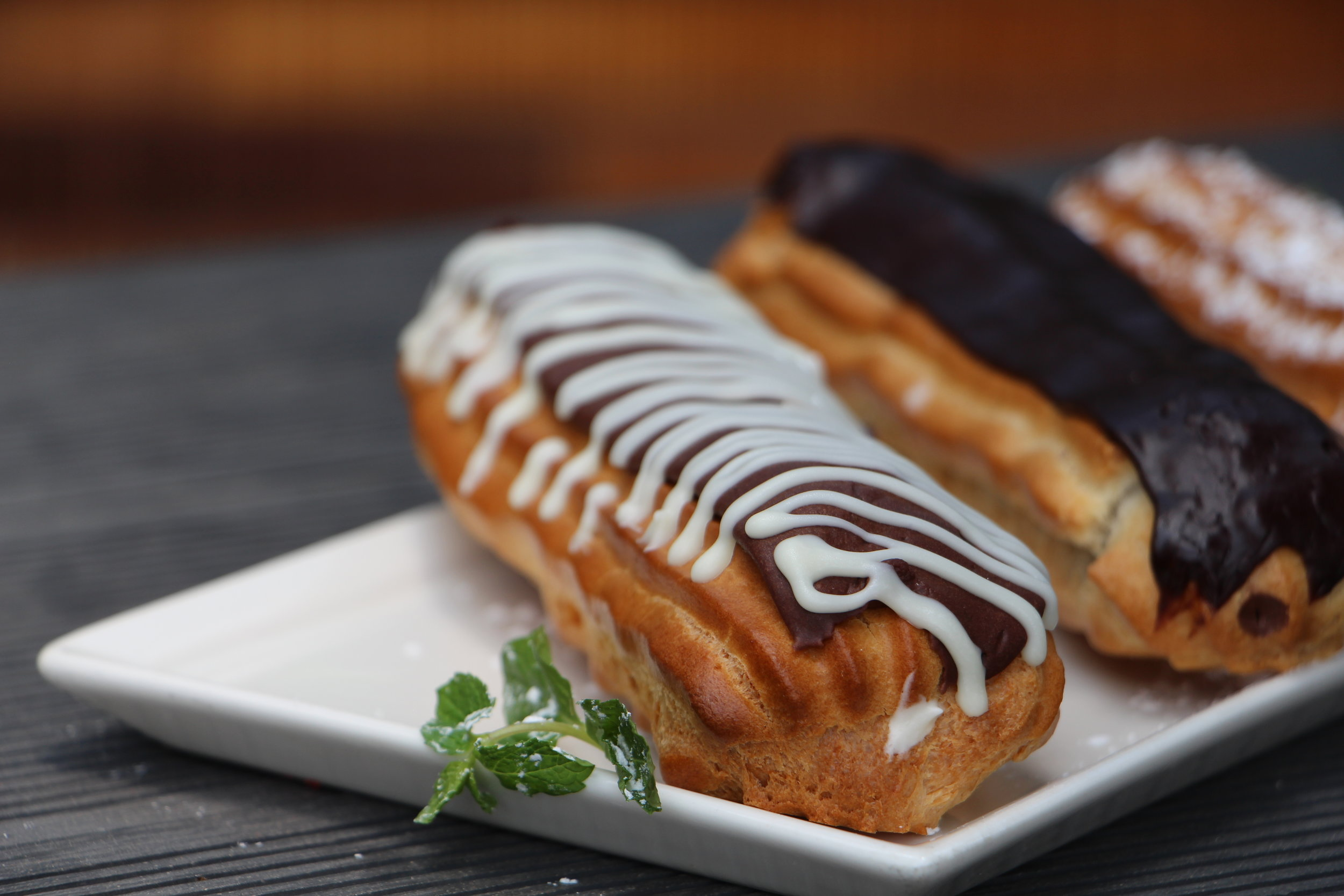 This French pastry is often a delight to eat. Chocolate or vanilla, each one filled with delicious whipped cream is heavenly.