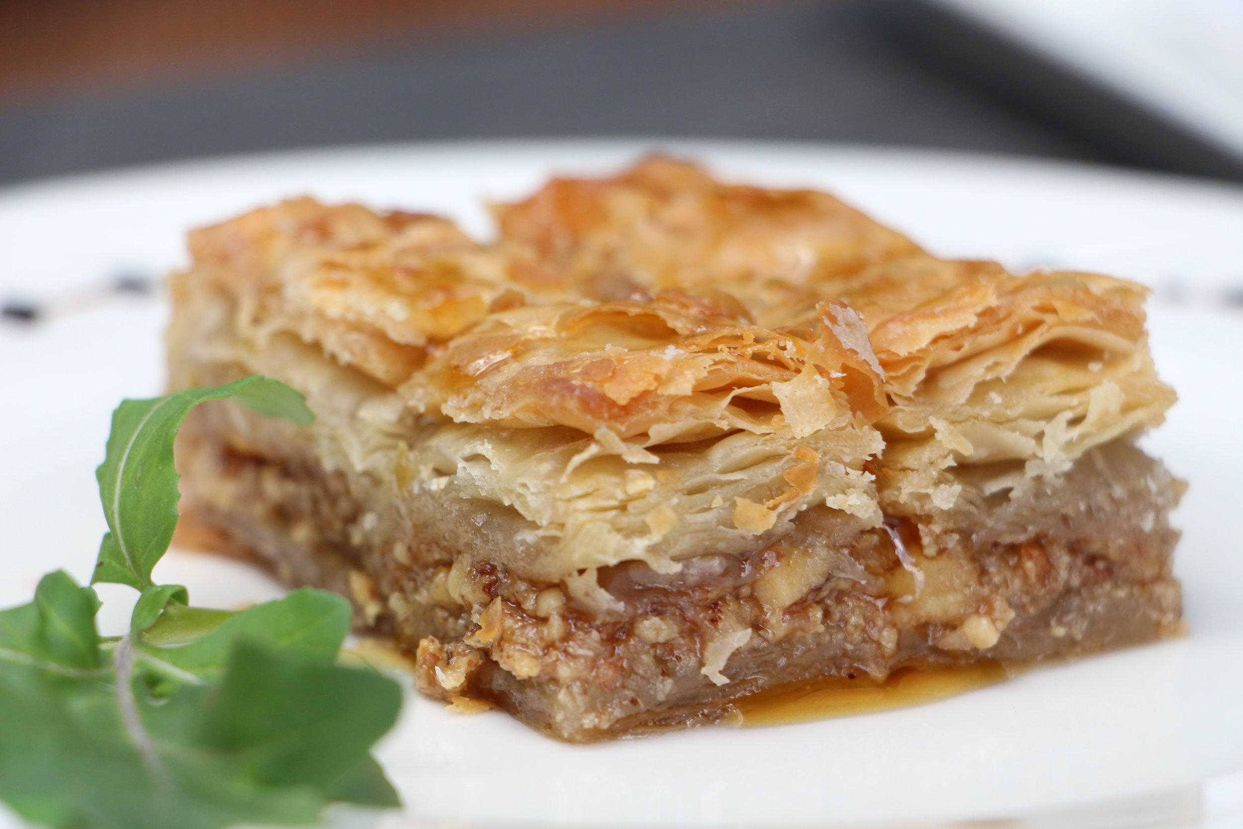 Get transported to the Middle East with this rich, sweet pastry made of layered filo filled with chopped nuts and sweetened and held together with syrup or honey.