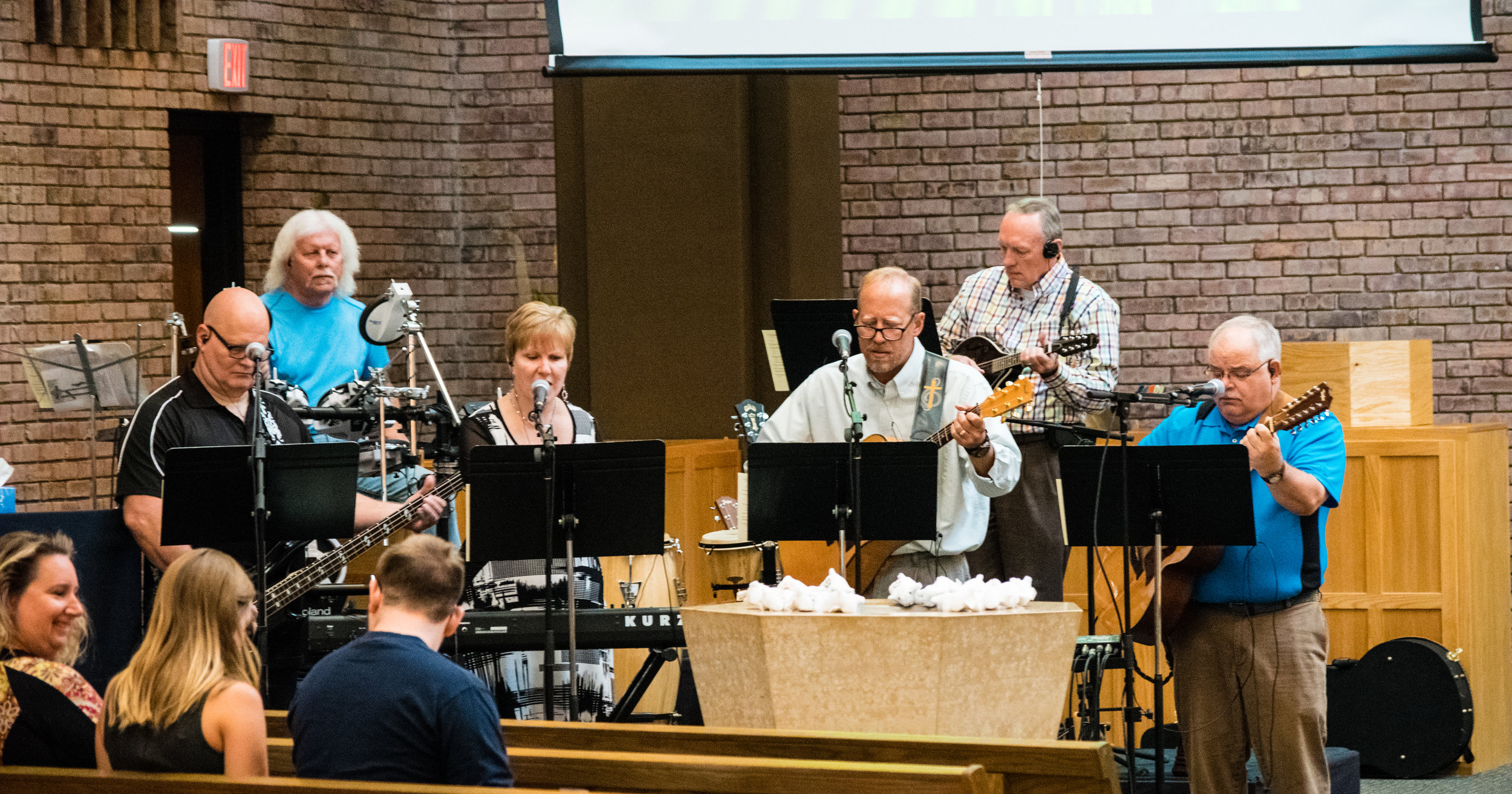 Contemporary Worship - A less formal experience with a high-energy band, which rests on a foundation of Lutheran theology. At 10:45, on 2nd, 4th and 5th Sundays, and every Wednesday.
