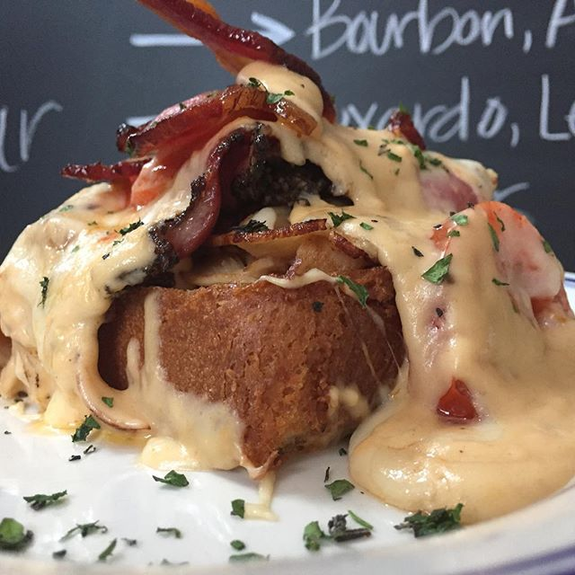 You know we gotta make a Hot Brown for the Derby tomorrow! But with our own little Wisconsin twist (more meat). Turkey, pastrami, duck, bacon, on brioche smothered in Swiss cheese sauce. Join us for the Derby Party 1p-7p! Prizes for Best Dressed and Best Hat! Bourbon pecan pie, mint juleps and bourbon mules and a whiskey raffle benefitting @steppingstonefarmsschool