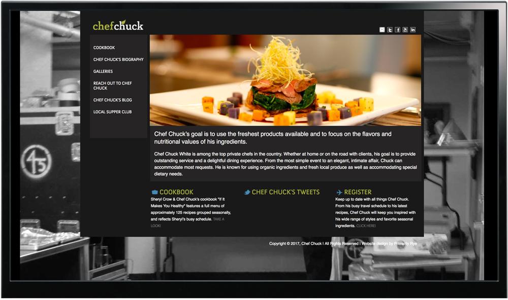 Chef Chuck Website Design & Development