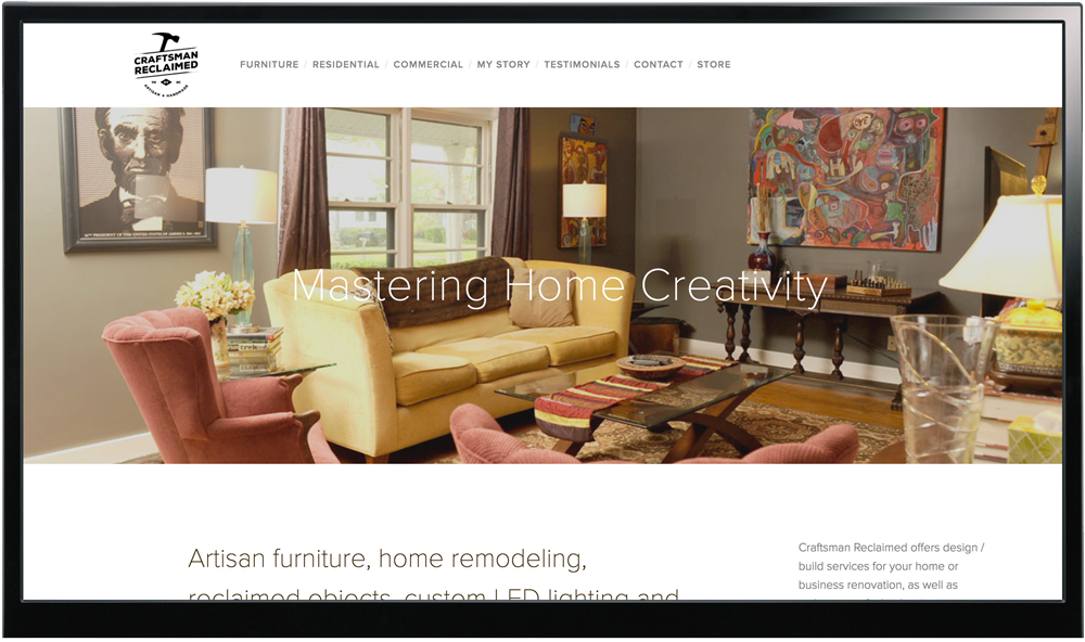 Craftsmen Reclaimed Website Design & Brand